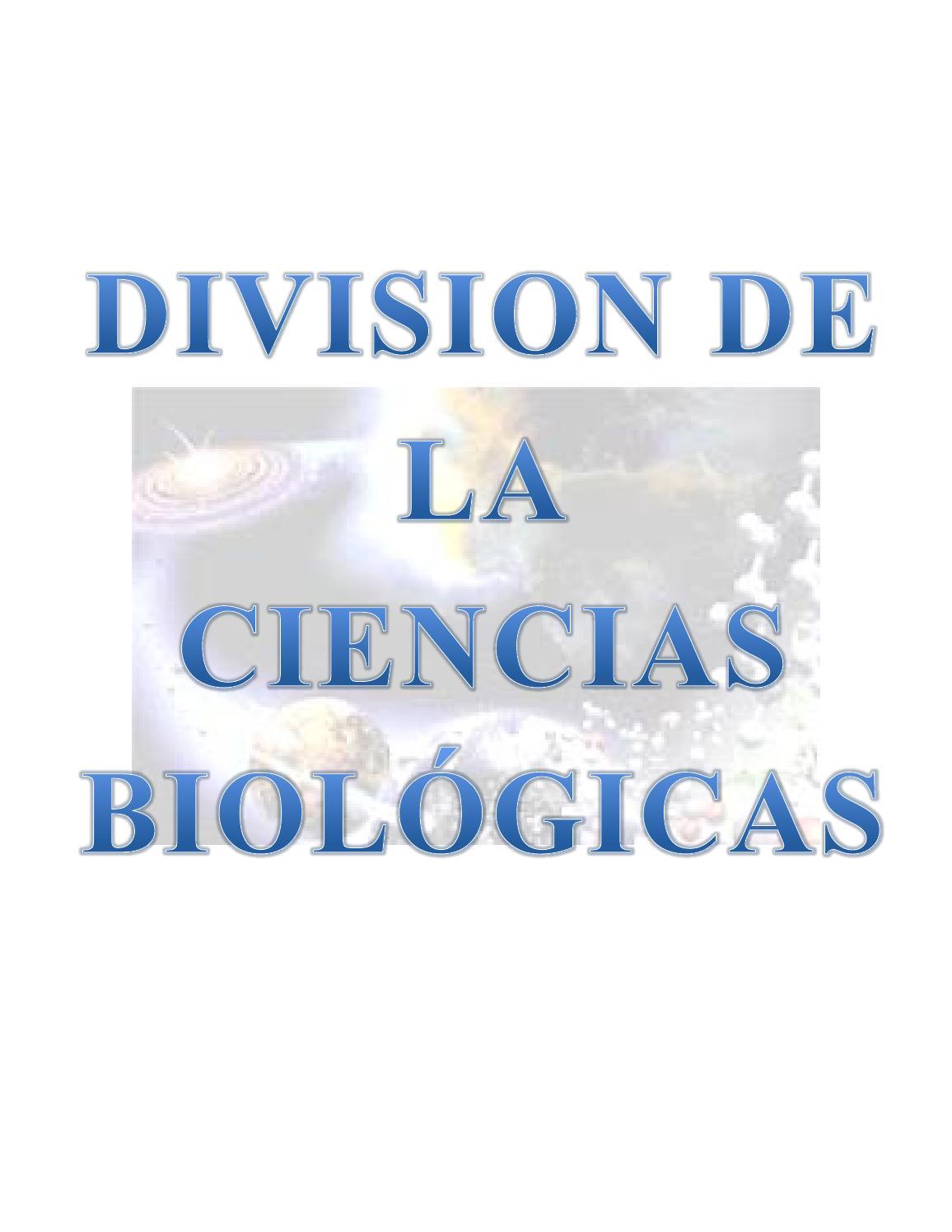 Subdivision De Las Ciencias Biologicas By Carlos Chacon Issuu