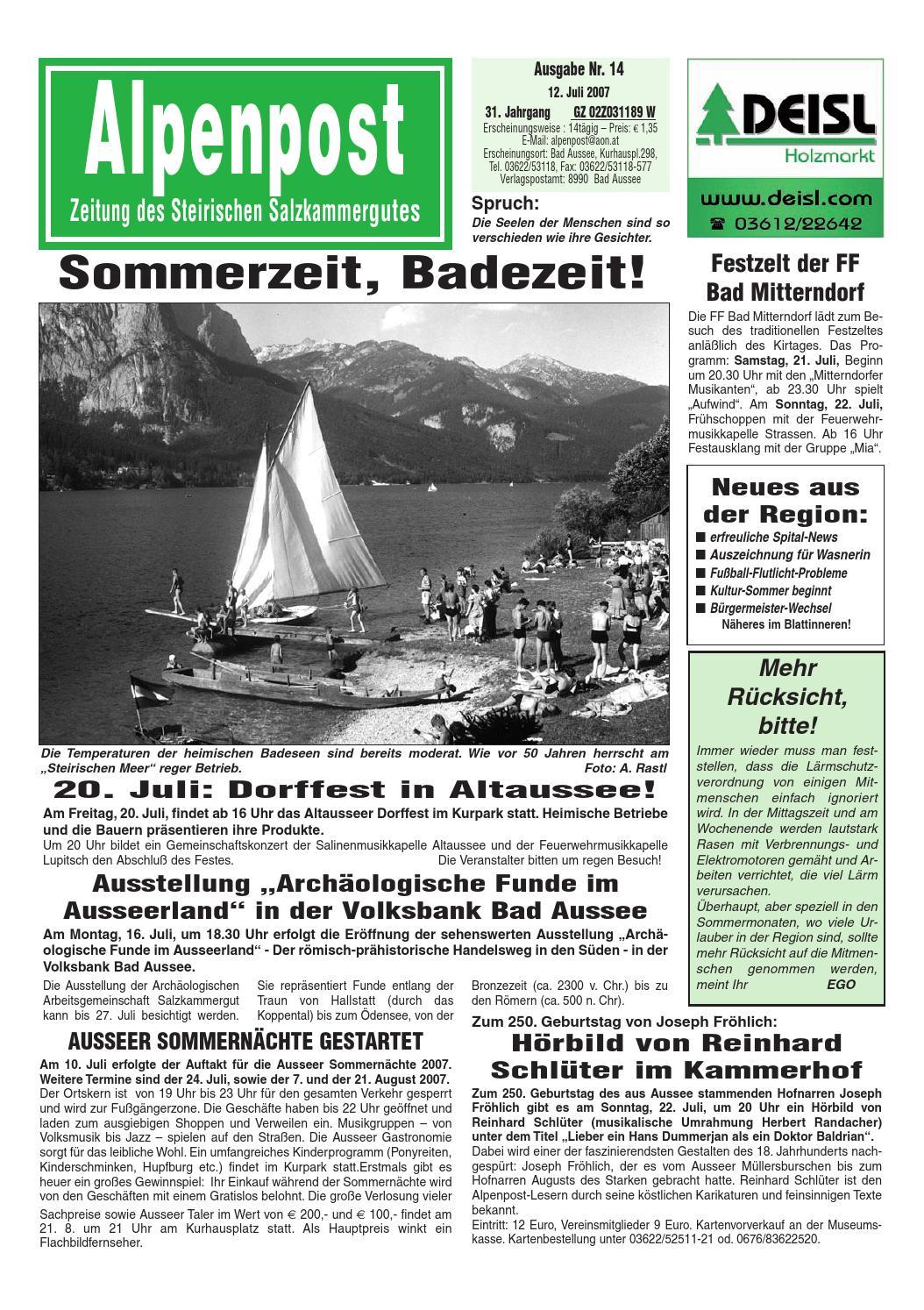 Partnersuche in Bad Aussee - Kontaktanzeigen - 50plus-Treff