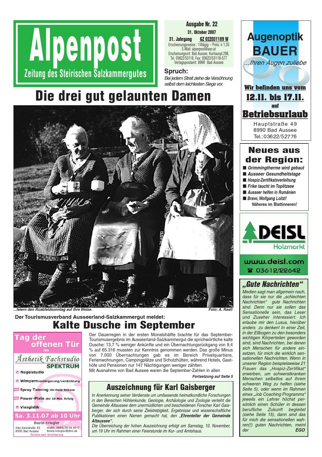 Kosten single in bad aussee: Sankt anna am aigen singleboerse