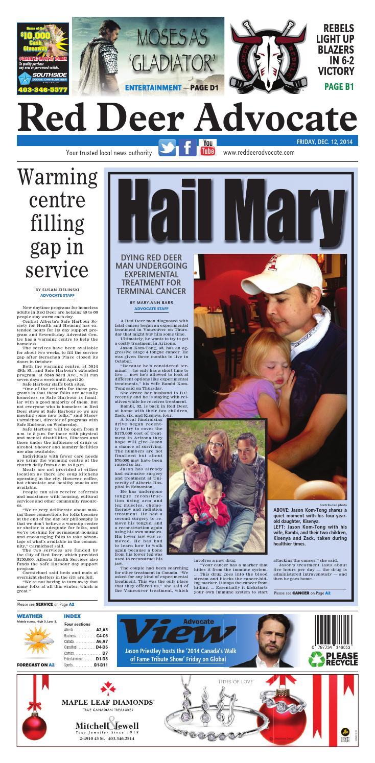Red Deer Advocate, December 12, 2014 by Black Press Media