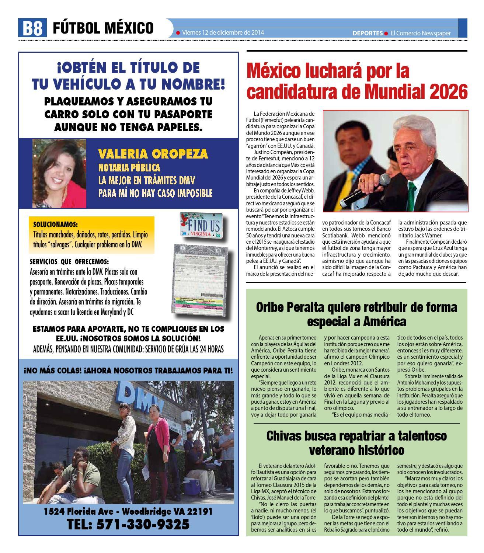 Deportes12122014 by El Comercio Newspaper - issuu