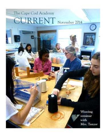 Current November 2014 By Cape Cod Academy Issuu