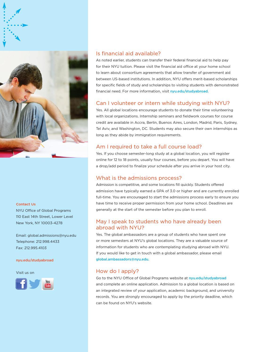 NYU Global Programs General Brochure by New York University