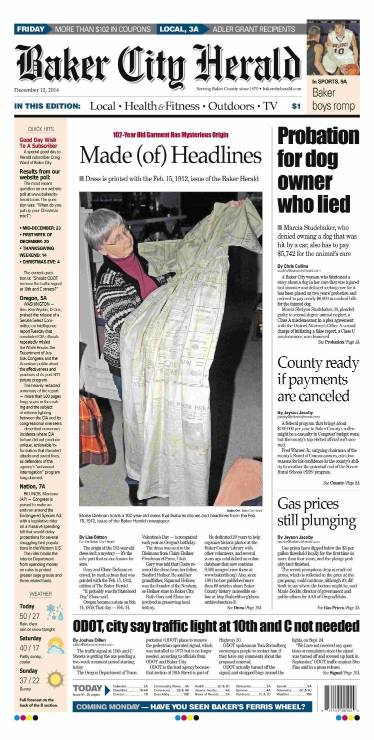 a0eeca6b Baker City Herald Paper 12-12-14 by NorthEast Oregon News - issuu