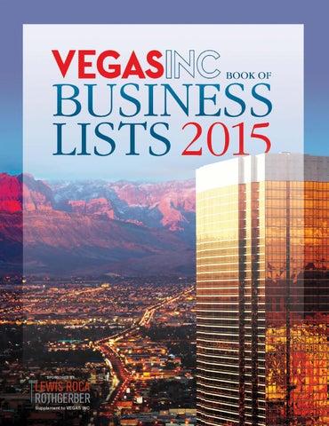 2015 VEGAS INC Book of Business Lists by Greenspun Media