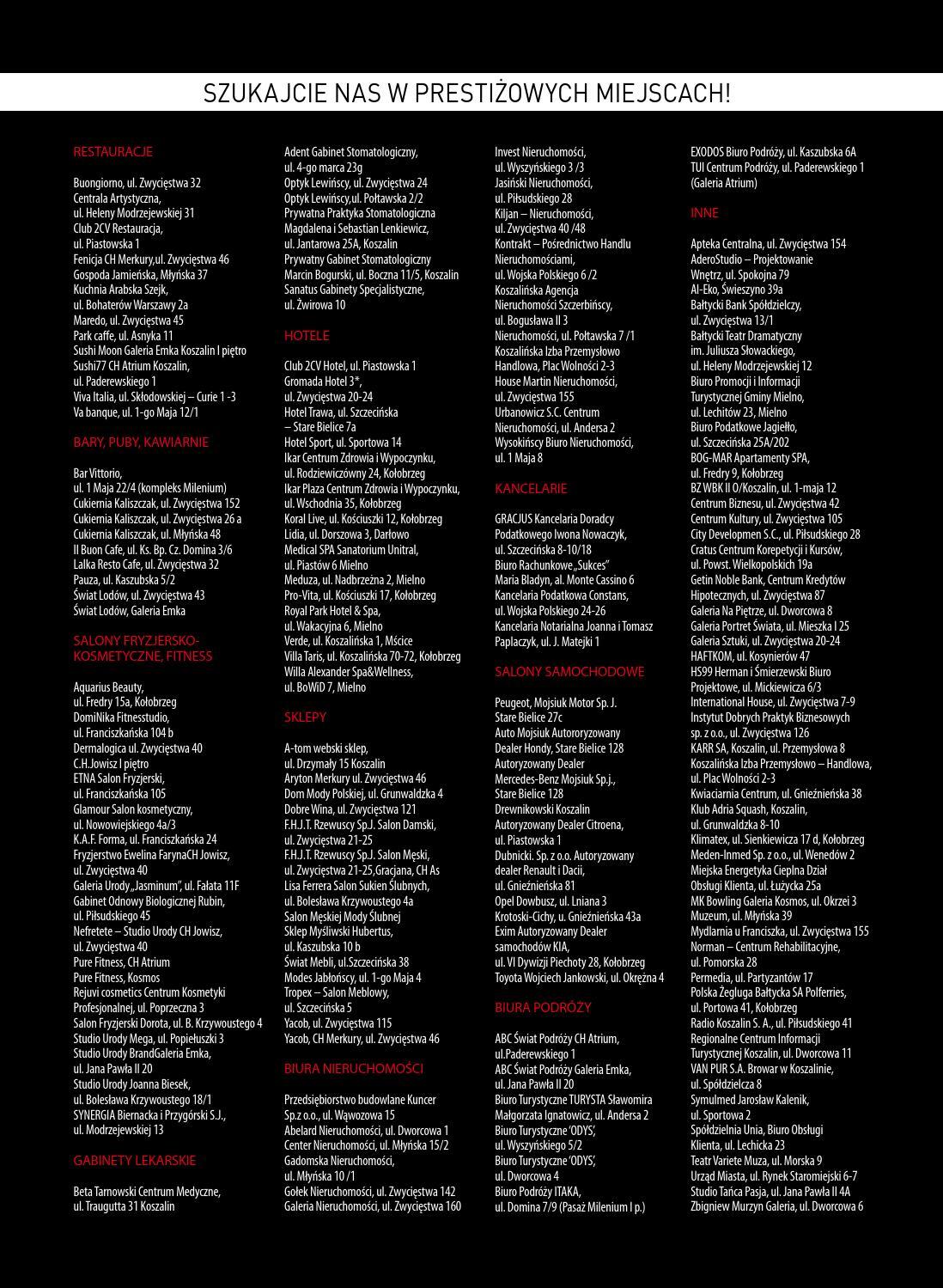 Koszalin Prestiz 60 Grudzien2014 By Prestiż Magazyn Koszaliński Issuu