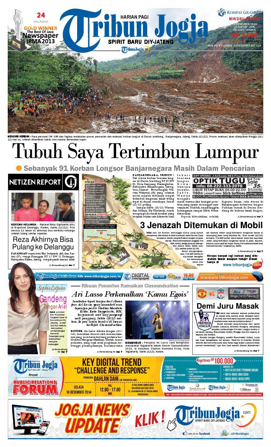 Tribunjogja 14 12 2014 By Tribun Jogja Issuu Stiker Pelengkap Astrea 800