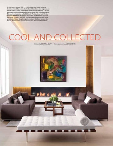 ... 11,290 Square Foot House Outside Seattle, A Knoll Barcelona Daybed And  Danskina Area Rug Connect Two Minotti Albers Classic Sofas From Inform  Interiors.