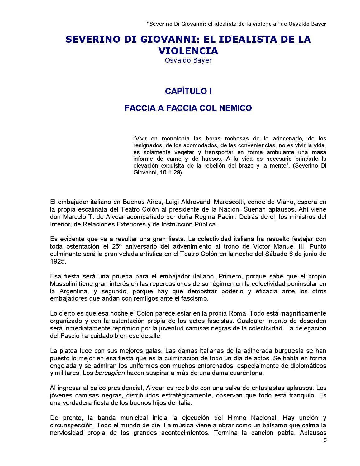 Severino Di Giovanni - Osvaldo Bayer by Kclibertaria - issuu