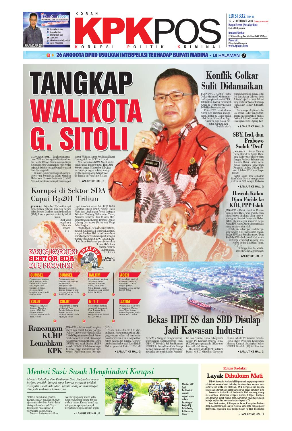 Epaper Kpkpos 332 Edisi Senin 15 Desember 2014 By Media Andalas Issuu