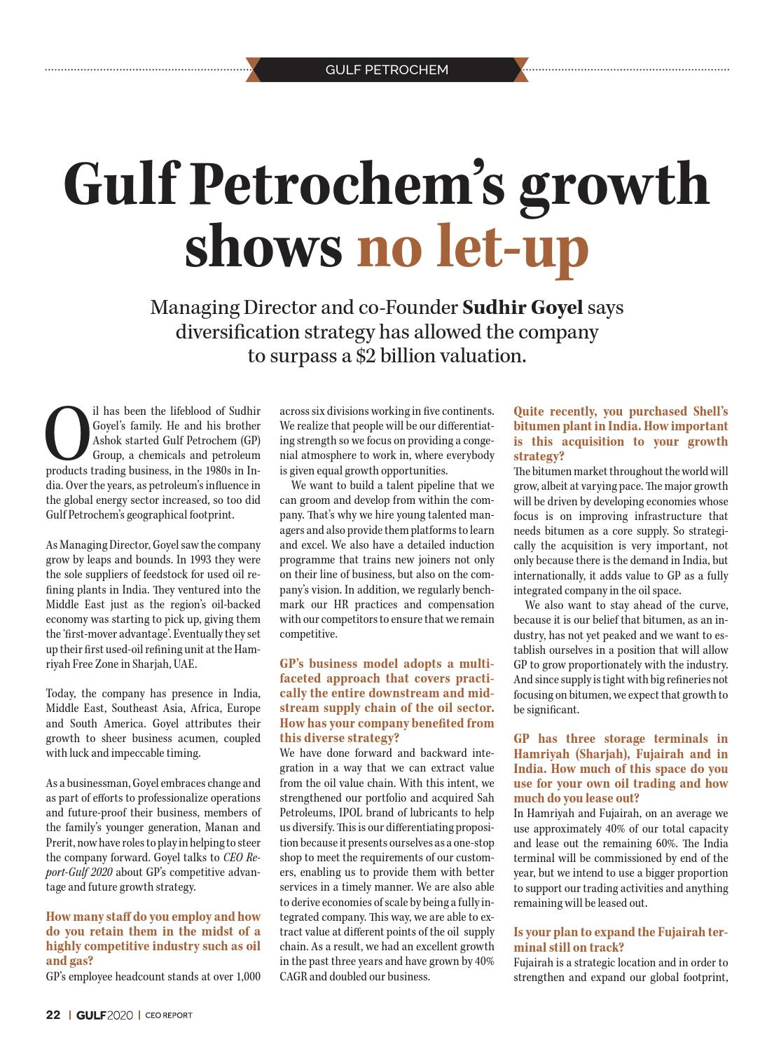 CEO Report: Gulf 2020 by Content Group - issuu