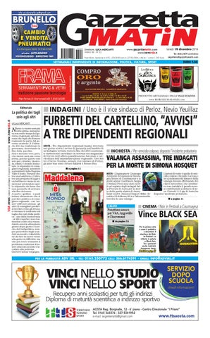 Gazzetta matin del 15 dicembre 2014 by newsvda issuu page 1 fandeluxe Images