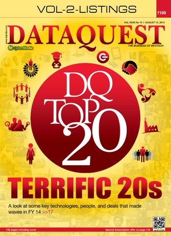 DQ Top 20 Volume II - Listings, 2014 by Dataquest - issuu