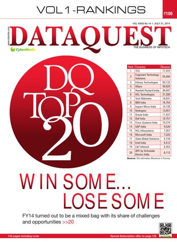 DQ Top 20 Volume I - Rankings, 2014 by Dataquest - issuu