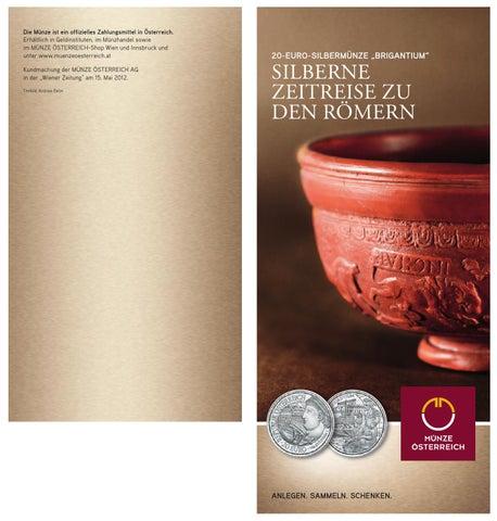20 Euro Silbermünze Brigantium Der Münzserie Rom An Der
