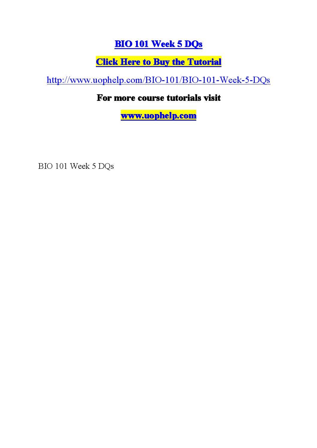 Bio101week1 quiz