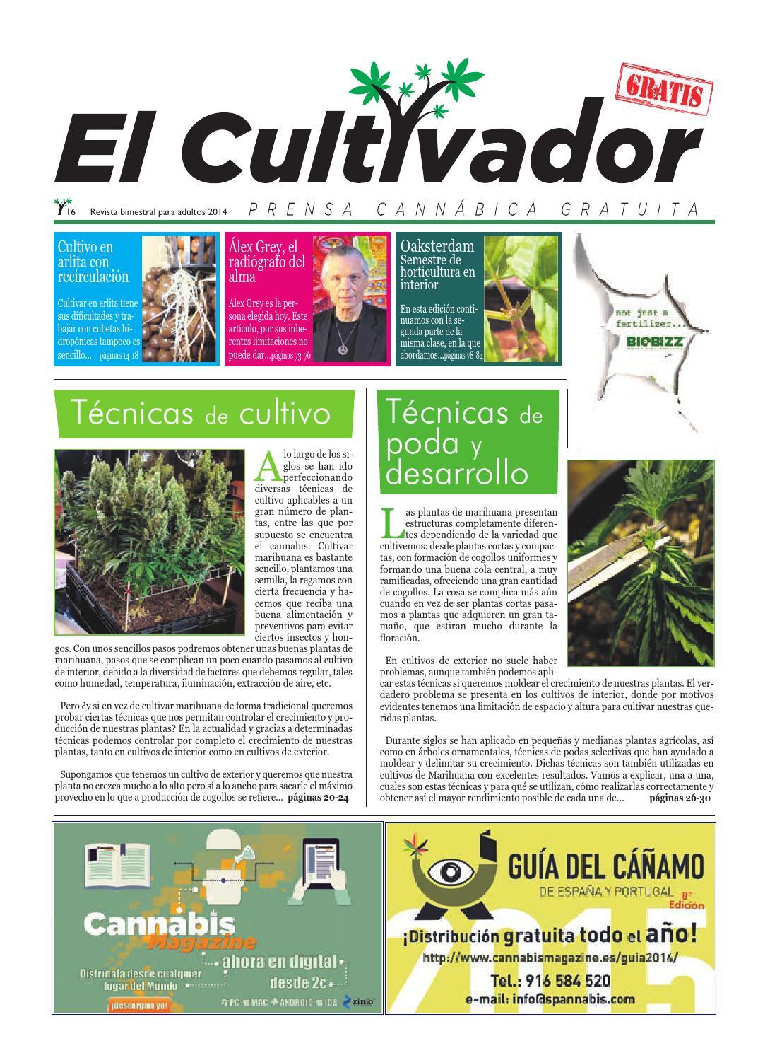 El Cultivador | Número 16 by Cannabis Magazine - issuu
