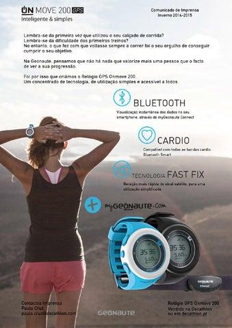 3c6e9728771 Comunicado de Imprensa Relógio GPS ONmove 220 by Decathlon Portugal ...