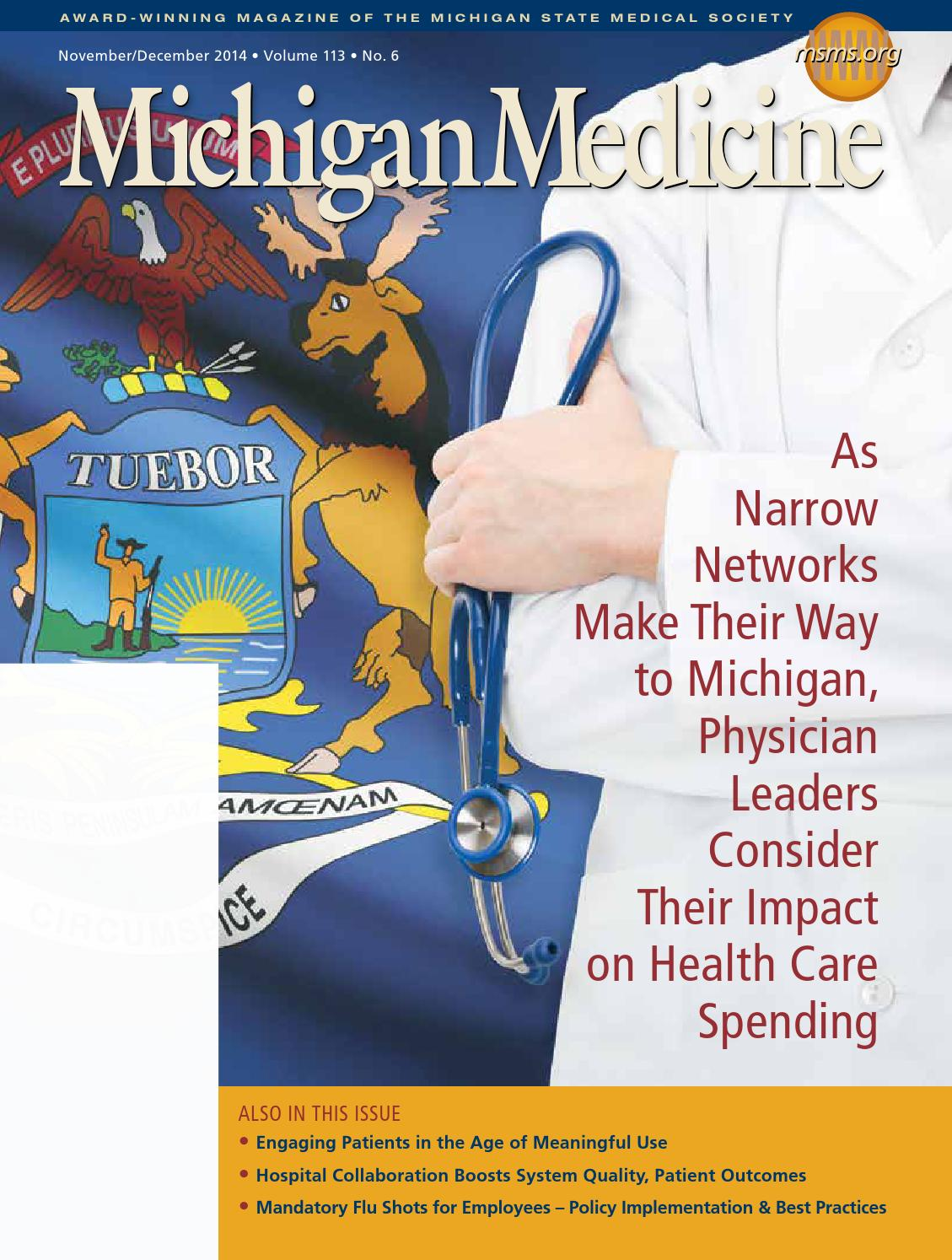 Michigan Medicine, Volume 113, No  6 by Michigan State