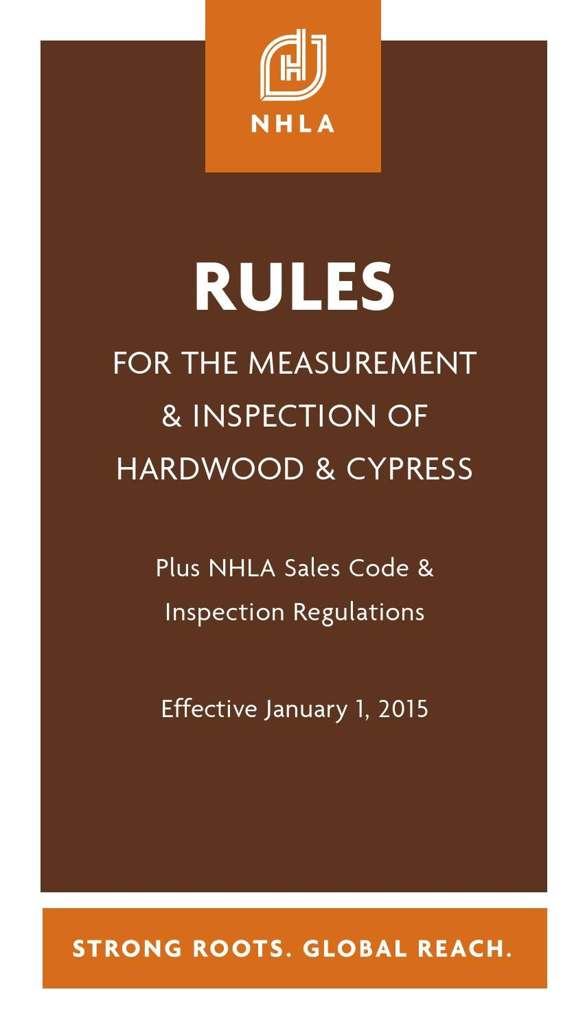 Nhla rules book by national hardwood lumber