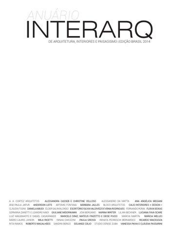 fe1d88be7dc Anuário InterArq de Arquitetura