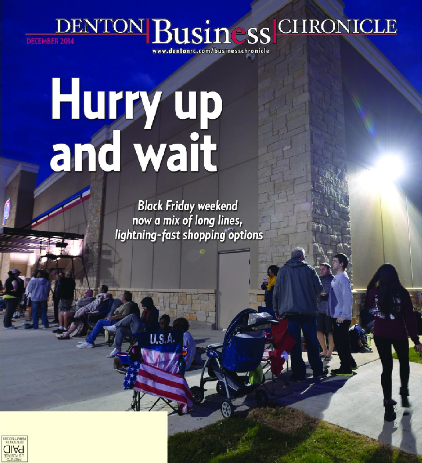 December Denton Business Chronicle 2014 by Larry McBride issuu