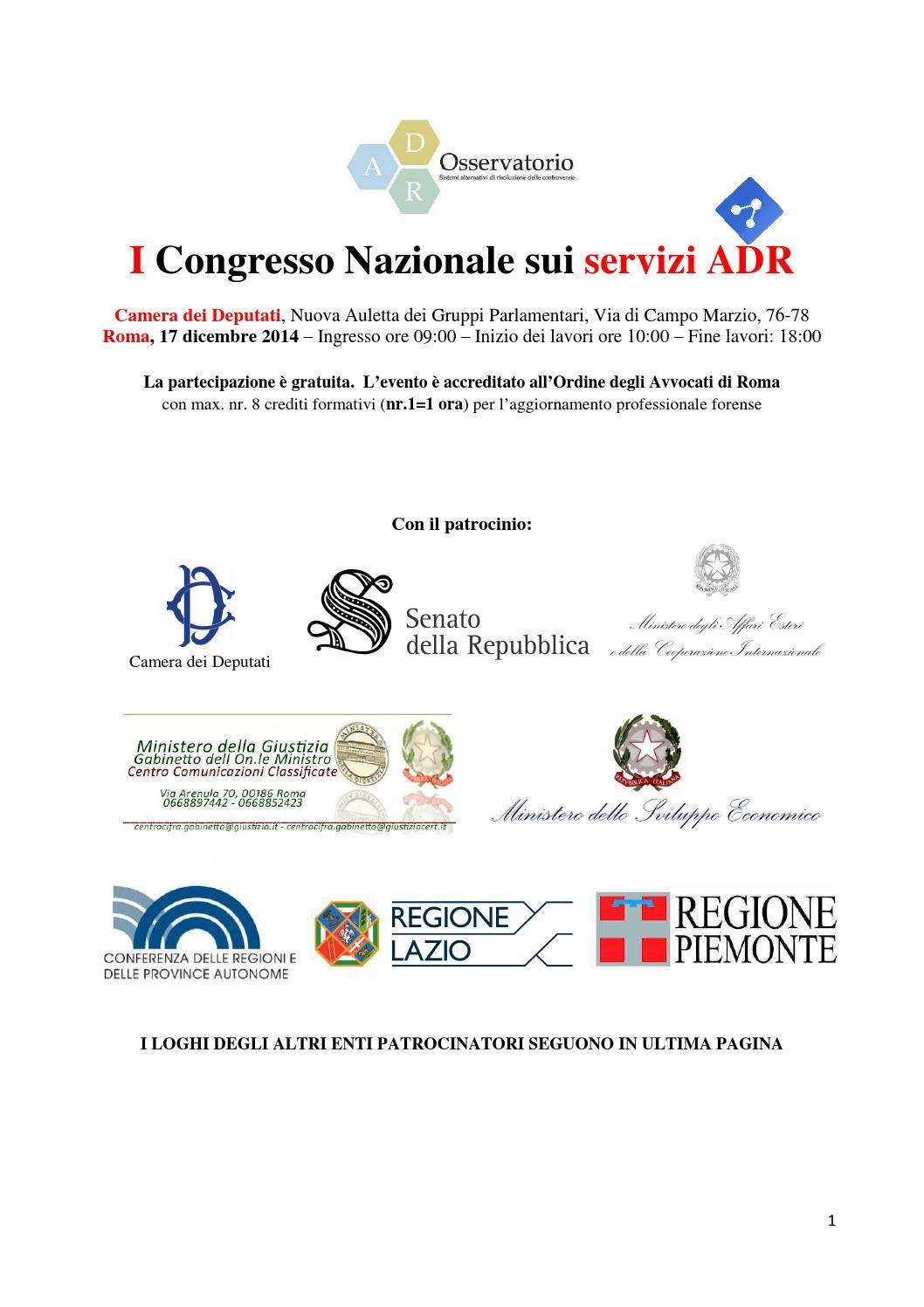 I congresso nazionale sui servizi adr by giammario for Lavori camera dei deputati