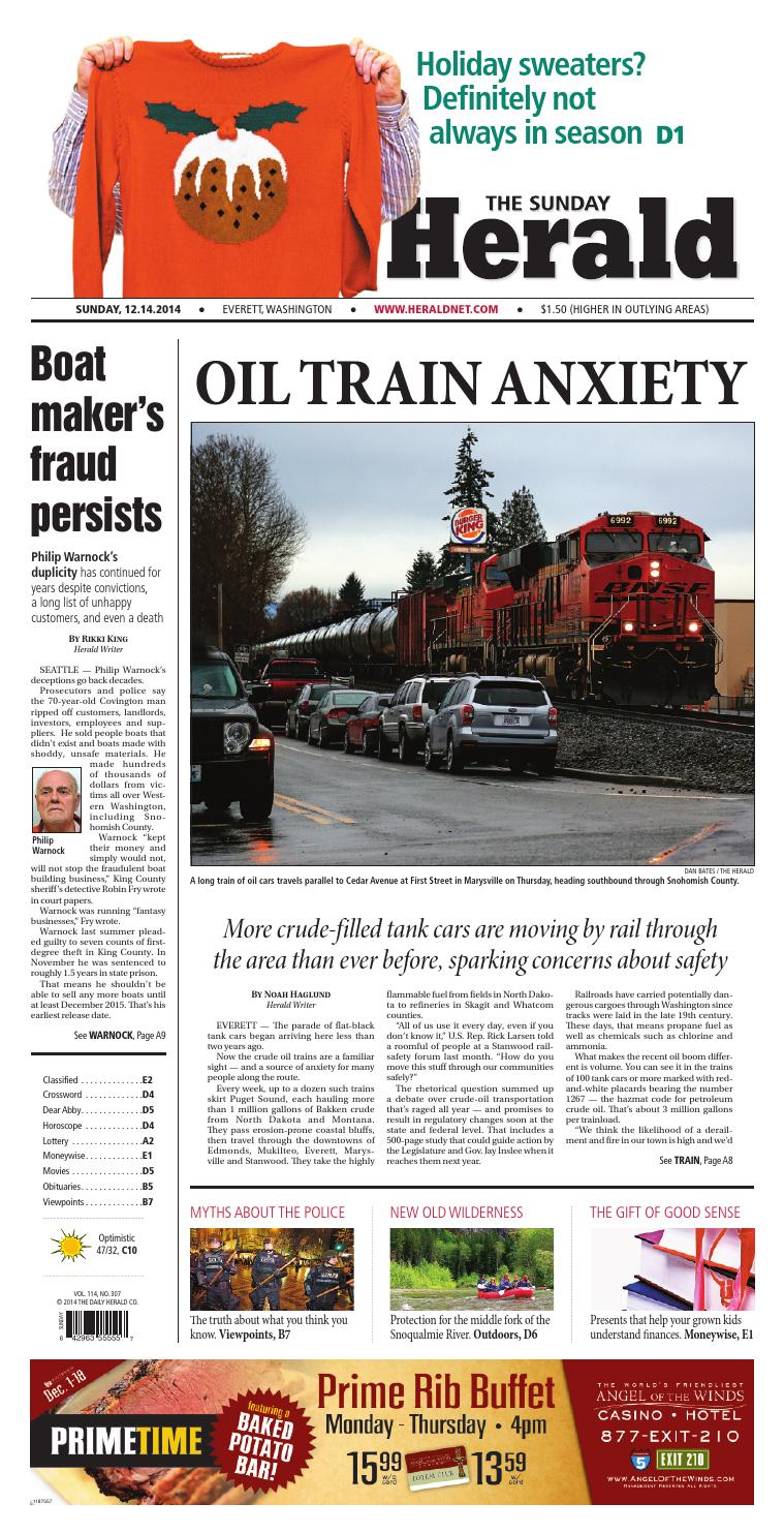 Everett Daily Herald, December 14, 2014 by Sound Publishing - issuu 3654bbcc36