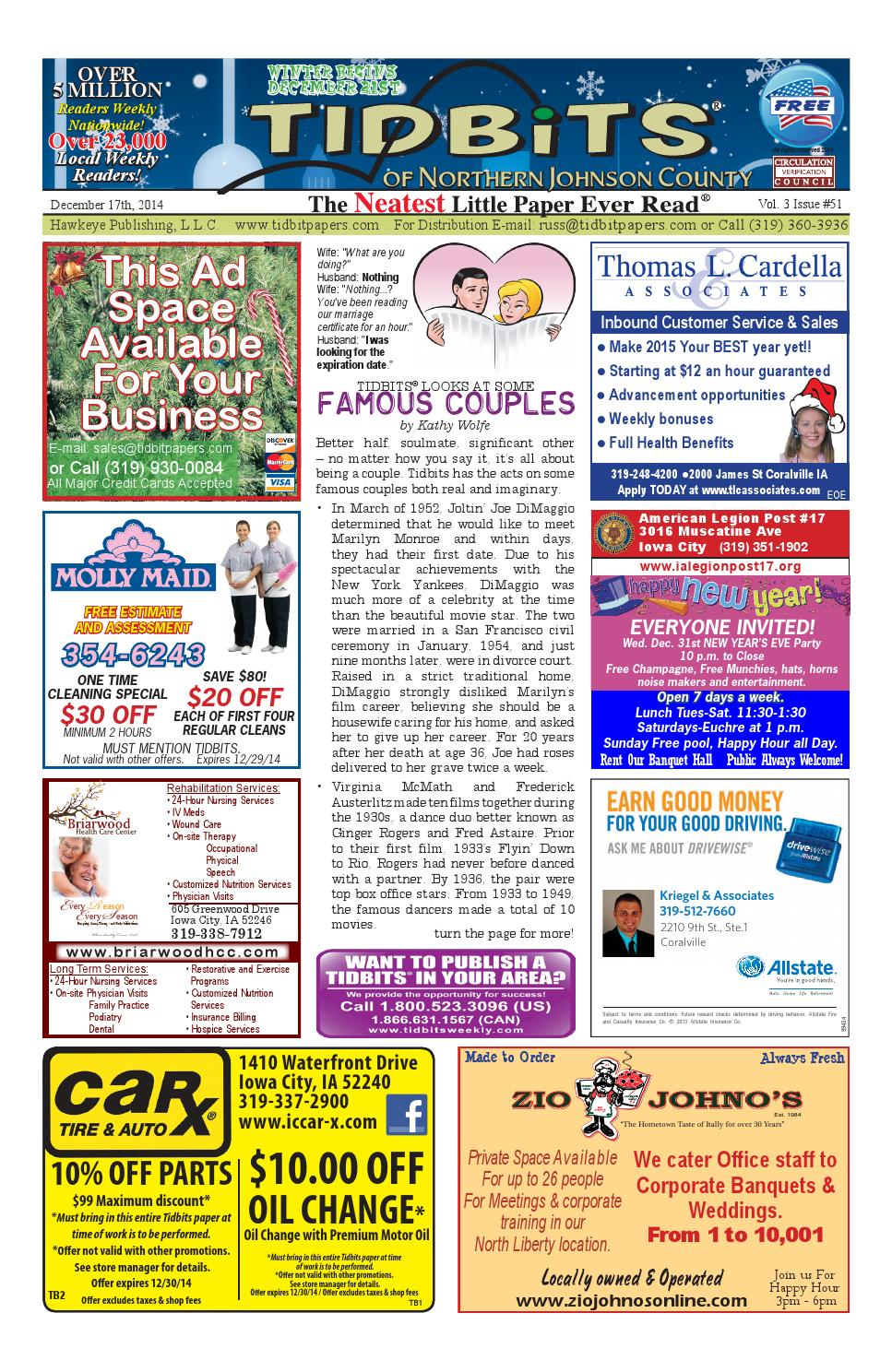 12 17 14 tidbits nj v3 issue 51 online by Russ Swart - issuu