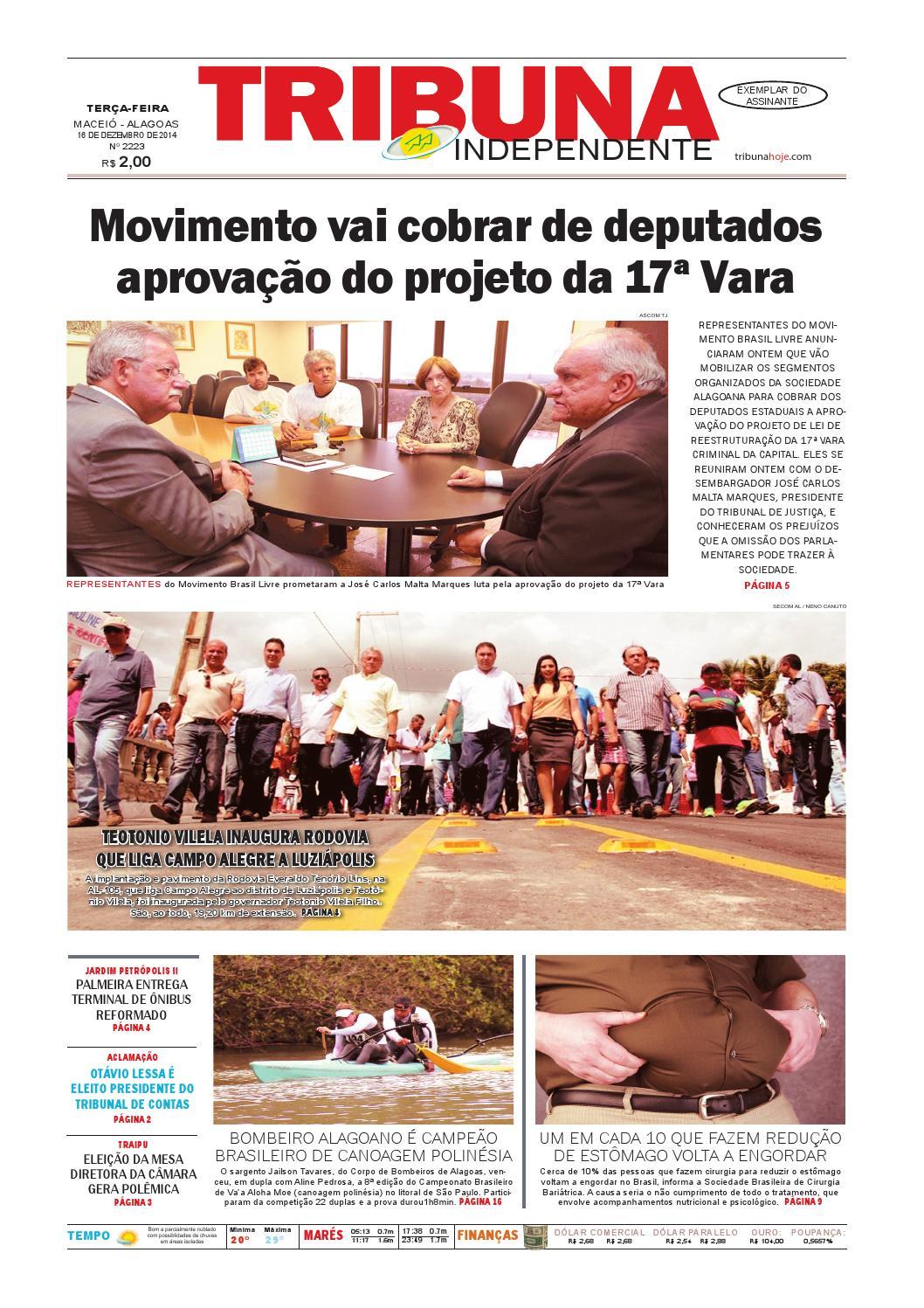 69aa427438 Edição número 2223 - 16 de dezembro de 2014 by Tribuna Hoje - issuu