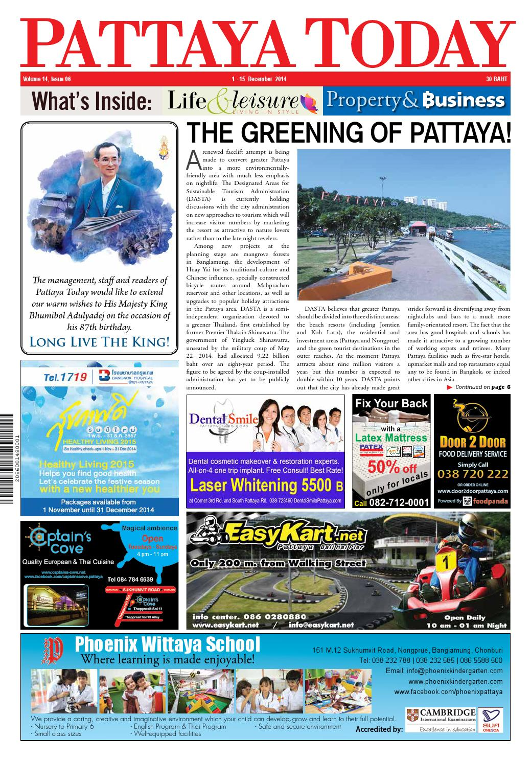 Vol 14 issue 06 1 15 december 2014 by pattaya today issuu