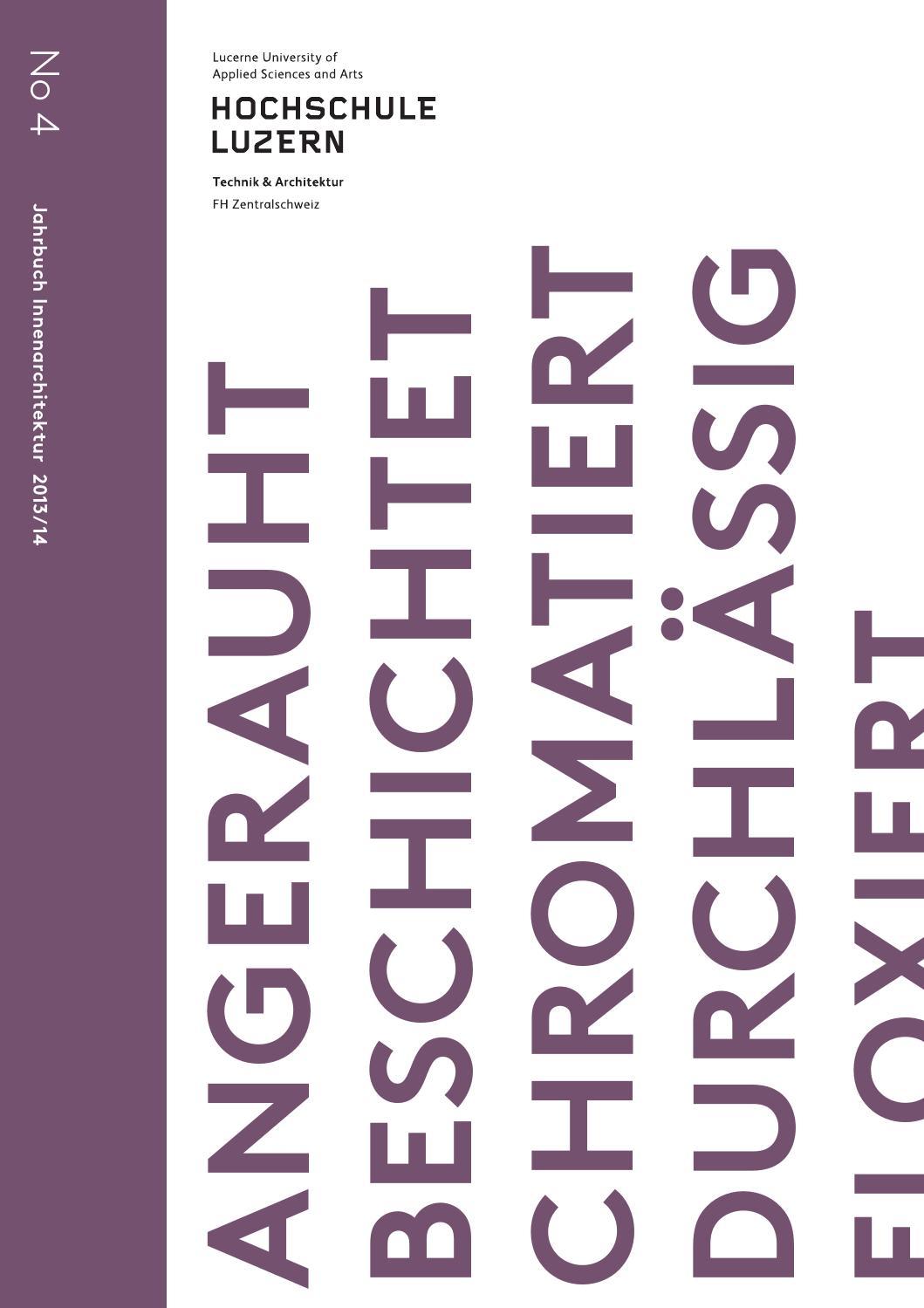 Jahrbuch Innenarchitektur 2013-2014, Hochschule Luzern – Technik ...