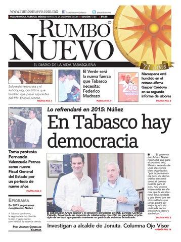 Rumbo Nuevo Martes 16 de Diciembre de 2014 by Grupo Rumbo Nuevo - issuu