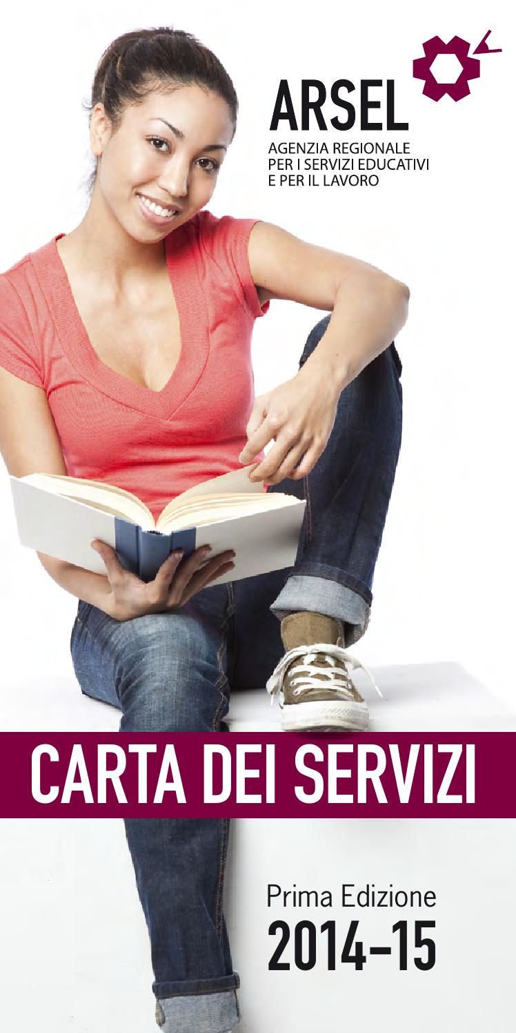 Arsel carta dei servizi 2014 2015 by arssu liguria issuu for Carta regionale dei servizi fvg