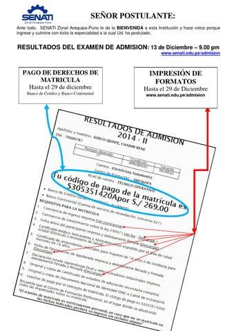 Certificado de estudios senati