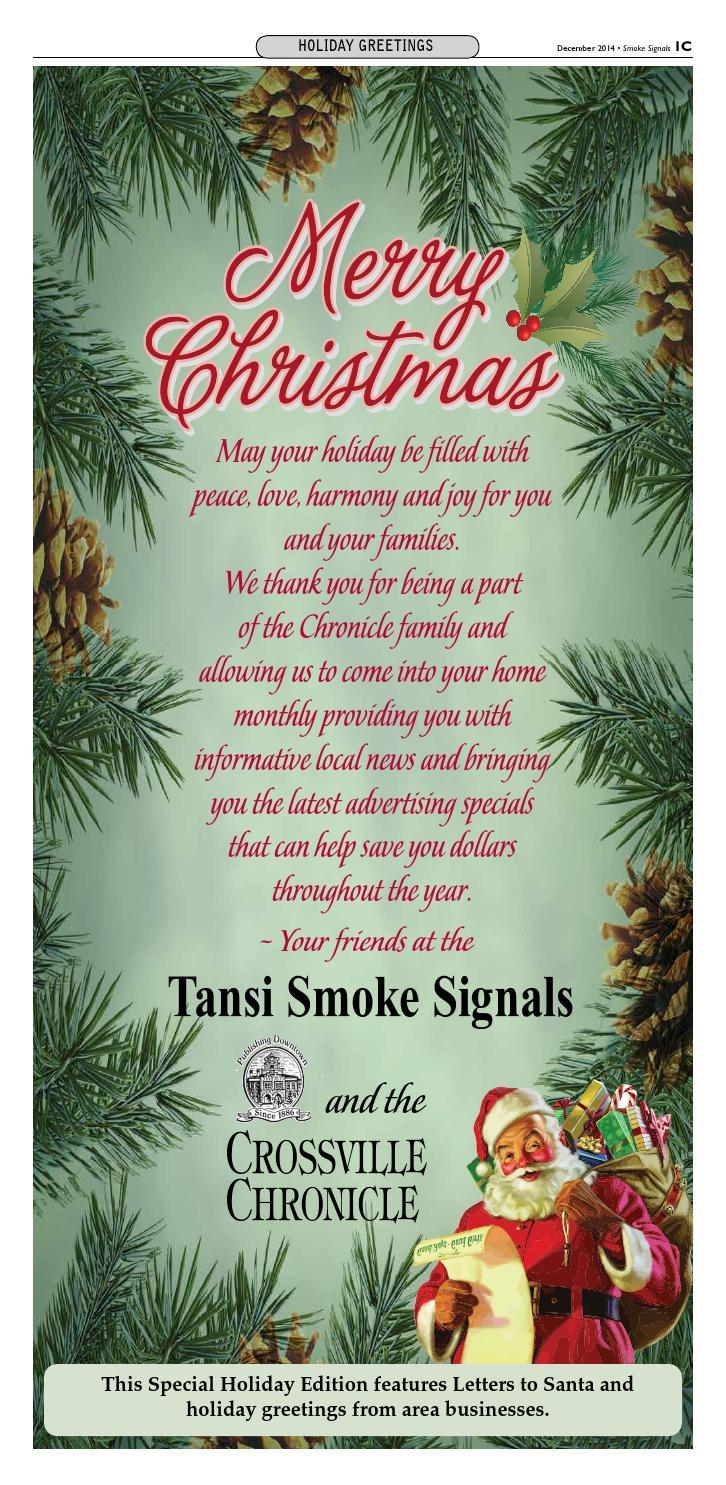 Christmas Greetings Tansi Smoke Signals By Heather Mullinix Issuu