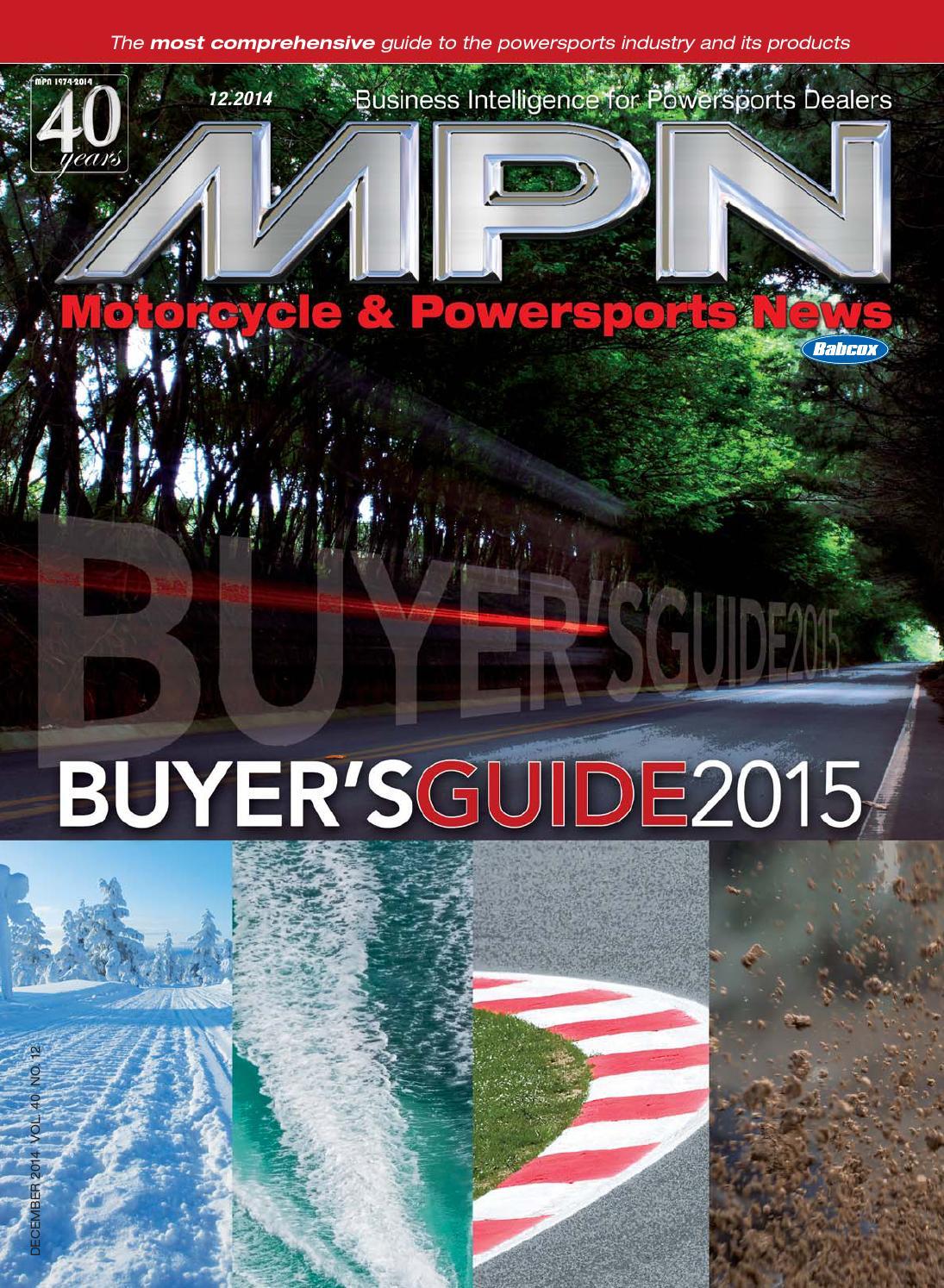 b3e9bca60 Motorcycle & Powersports News, December 2014 by Babcox Media - issuu