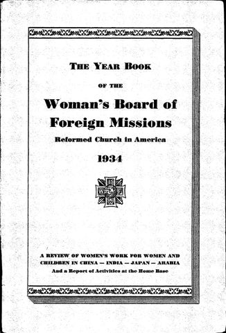 50 womans board of foreign missions rca 1934 by hope college van page 1 stopboris Gallery
