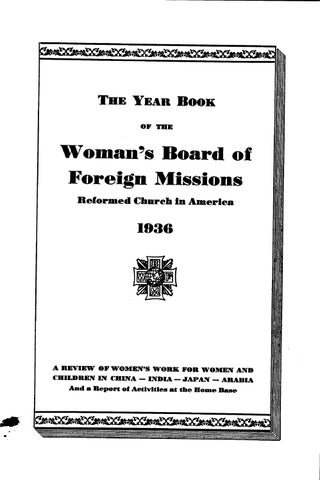 2403a591532c 52 womans board of foreign missions rca 1936 by Hope College Library ...