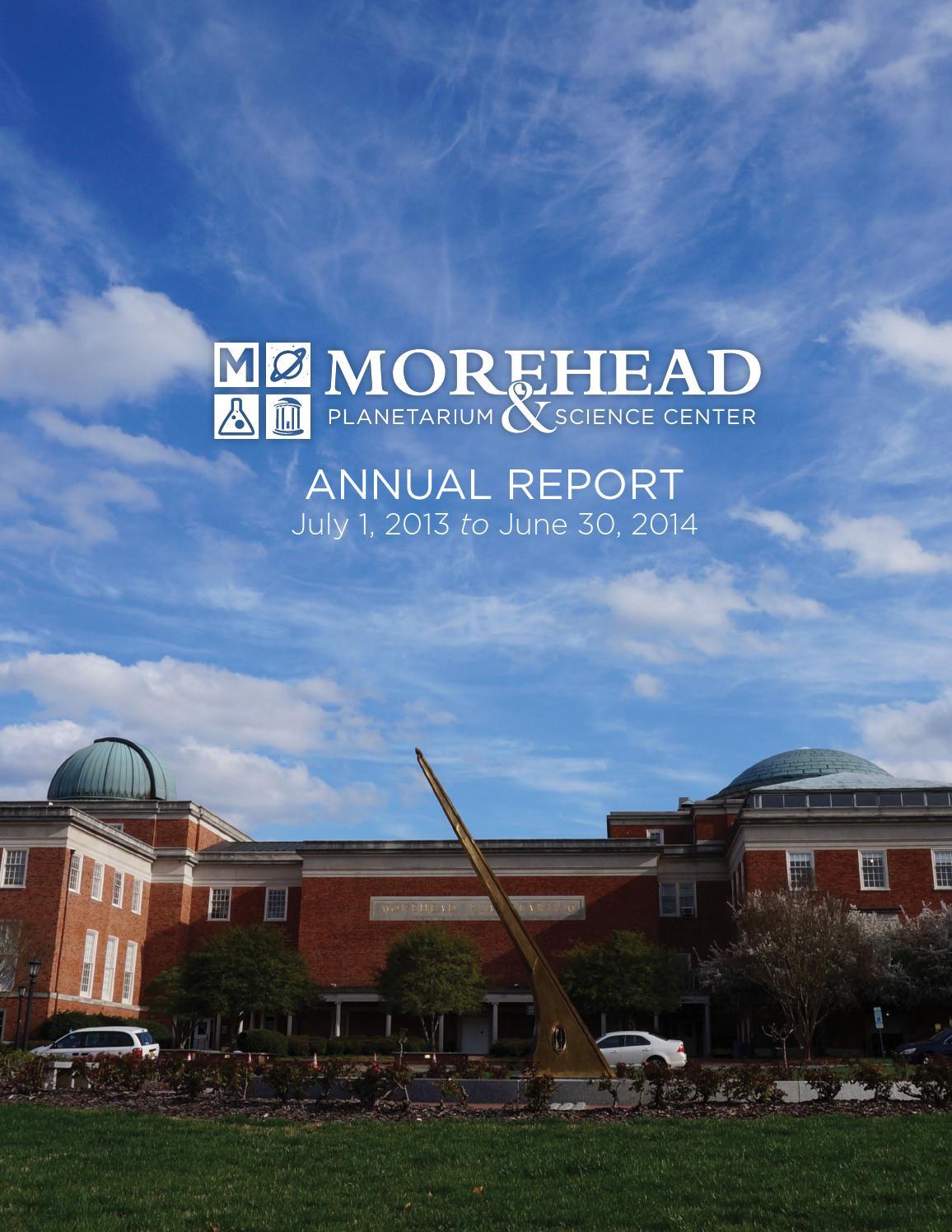 Morehead Planetarium and Science Center Annual Report — 2013