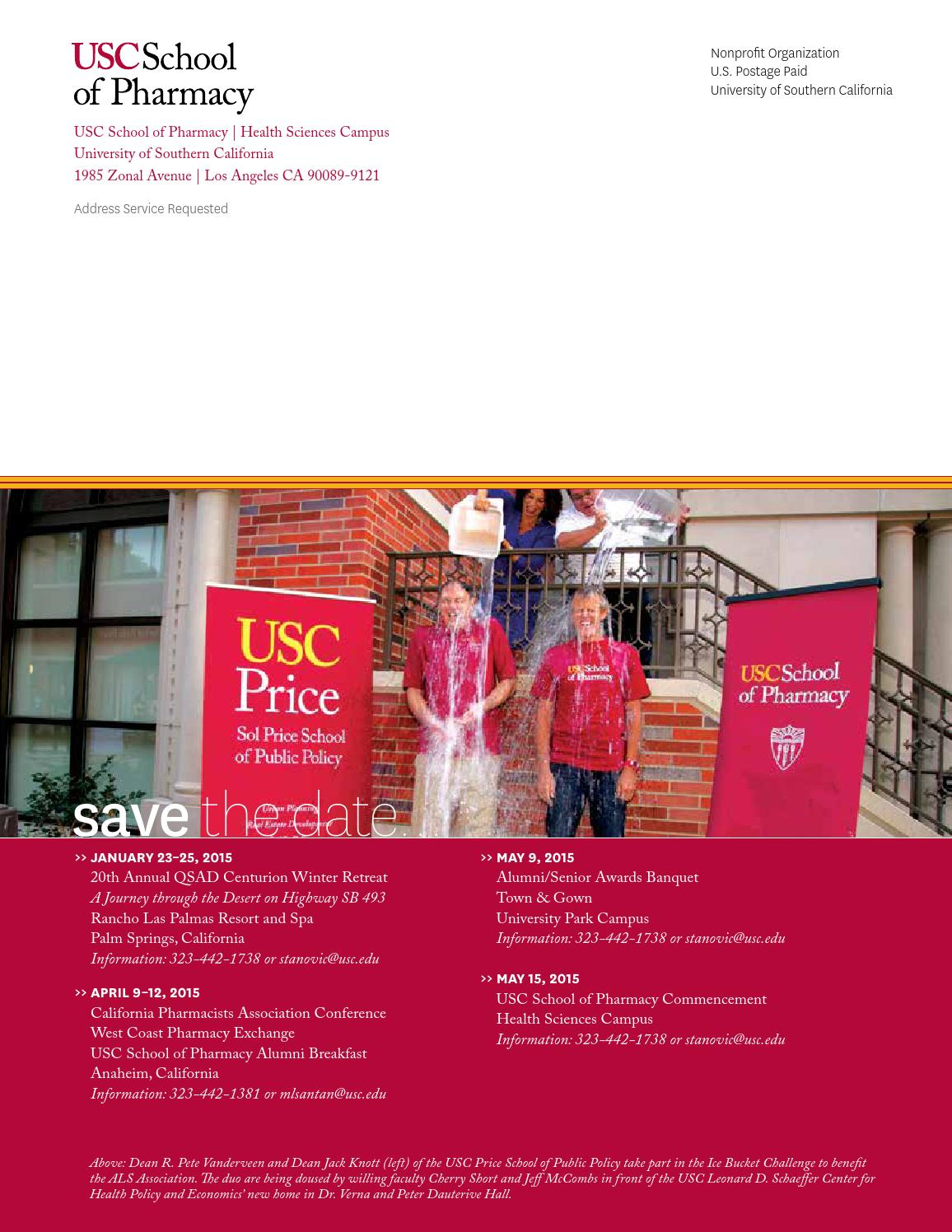 USC Pharmacy Magazine Fall 2014 Issue by University of Southern ...