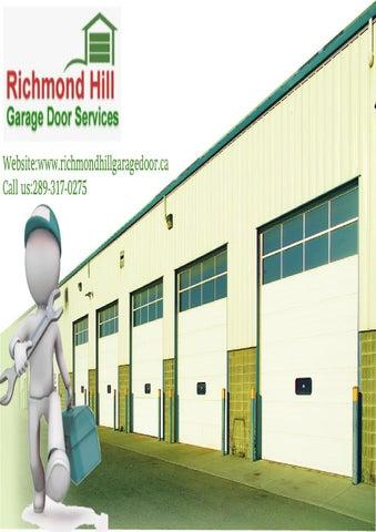 Richmond Hill Garage Door Parts Repair Maintenance Installation