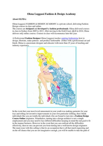 Fashion Illustration Drawing Course Gold Coast By Placestrial6 Issuu