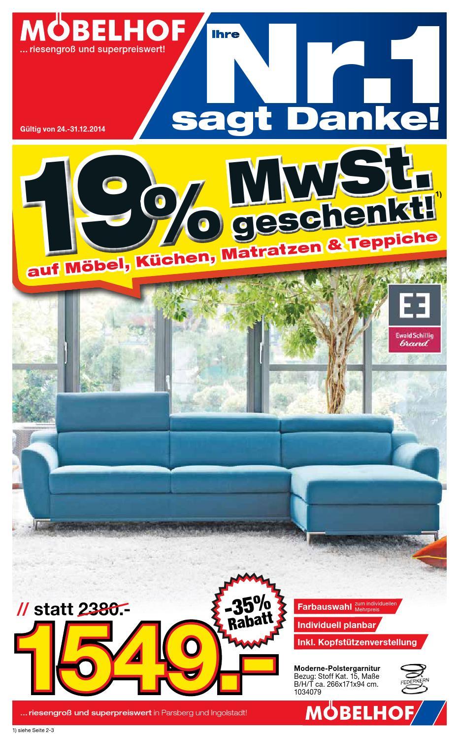 moebelhof prospekt kw50 2014 by perspektive werbeagentur. Black Bedroom Furniture Sets. Home Design Ideas