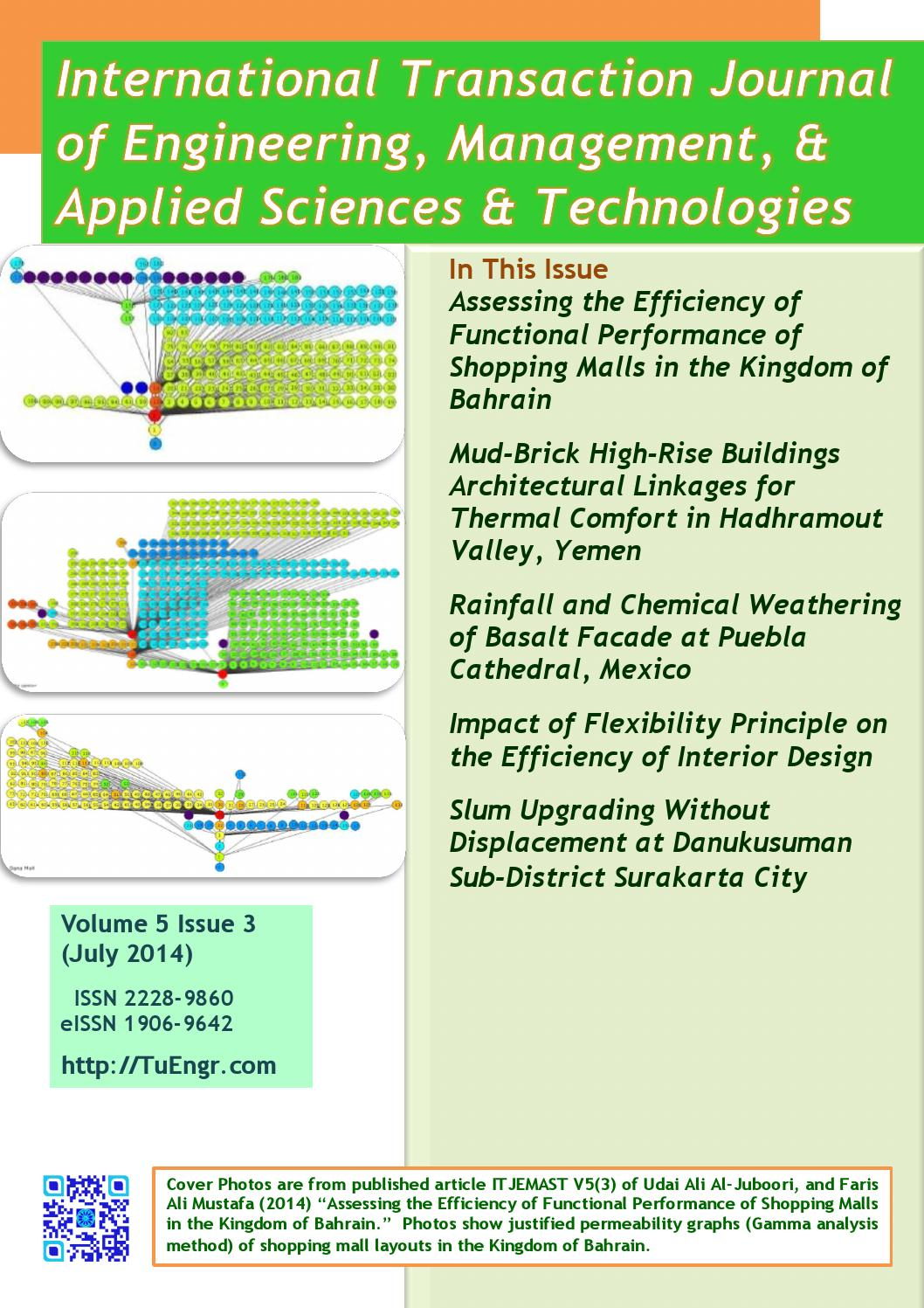 International Journal Of Architectural Engineering And Design Management