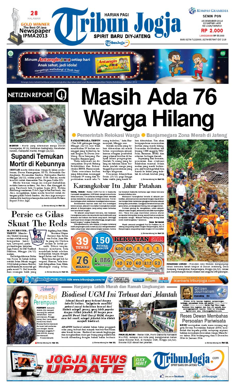 Tribunjogja 15 12 2014 By Tribun Jogja Issuu Kue Mawar Nuris Bakeri Ampamp Caterring Akumandiri