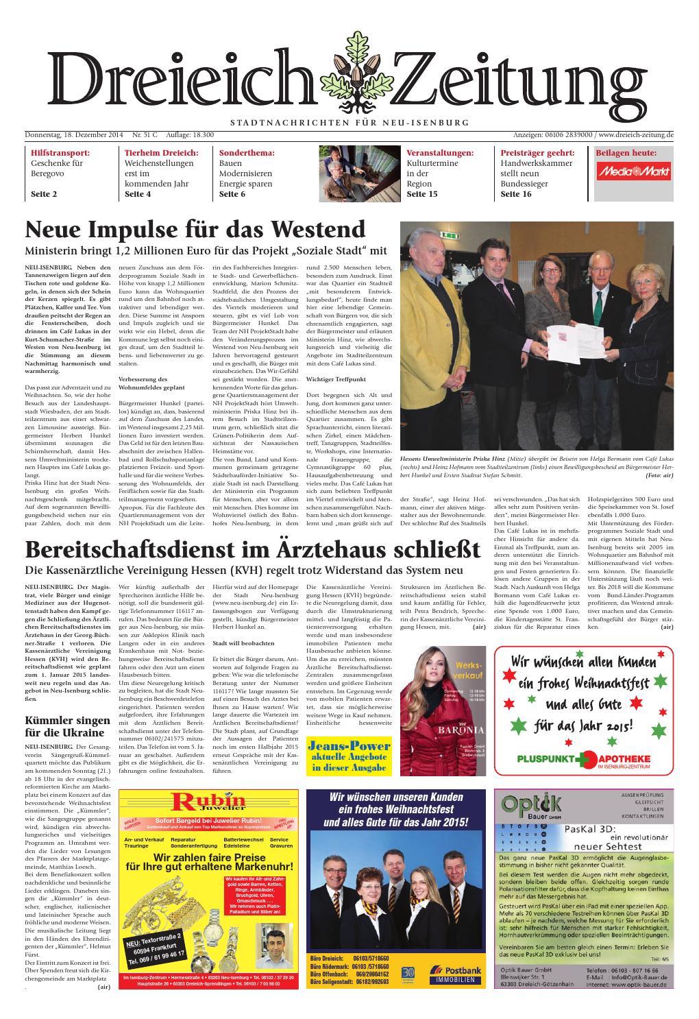 Dz online 051 14 c by Dreieich-Zeitung/Offenbach-Journal - issuu