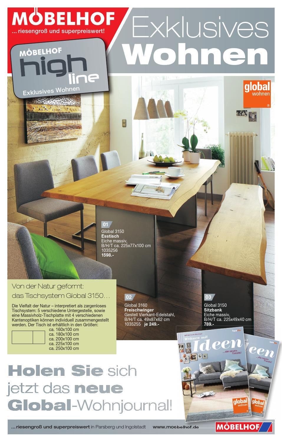moebelhof parsberg highline prospekt 01 2015 by. Black Bedroom Furniture Sets. Home Design Ideas