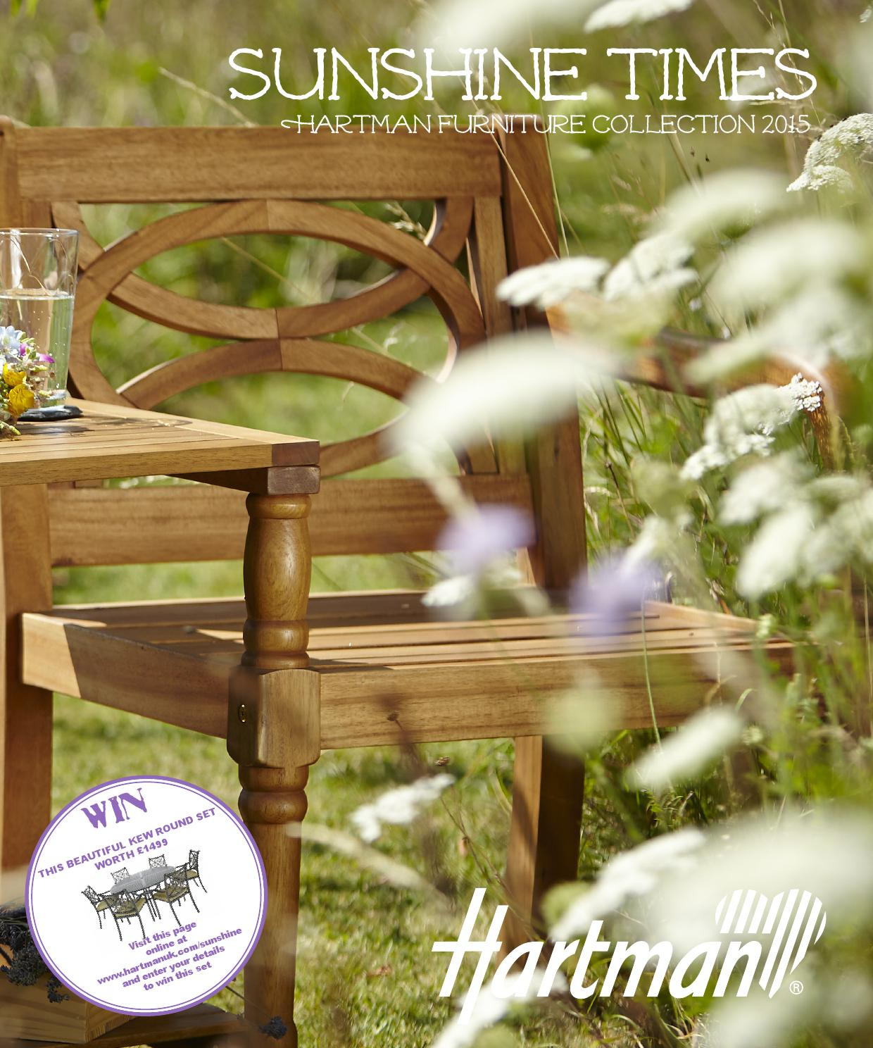 hartman sunshine times brochure 2015 by hartman outdoor. Black Bedroom Furniture Sets. Home Design Ideas
