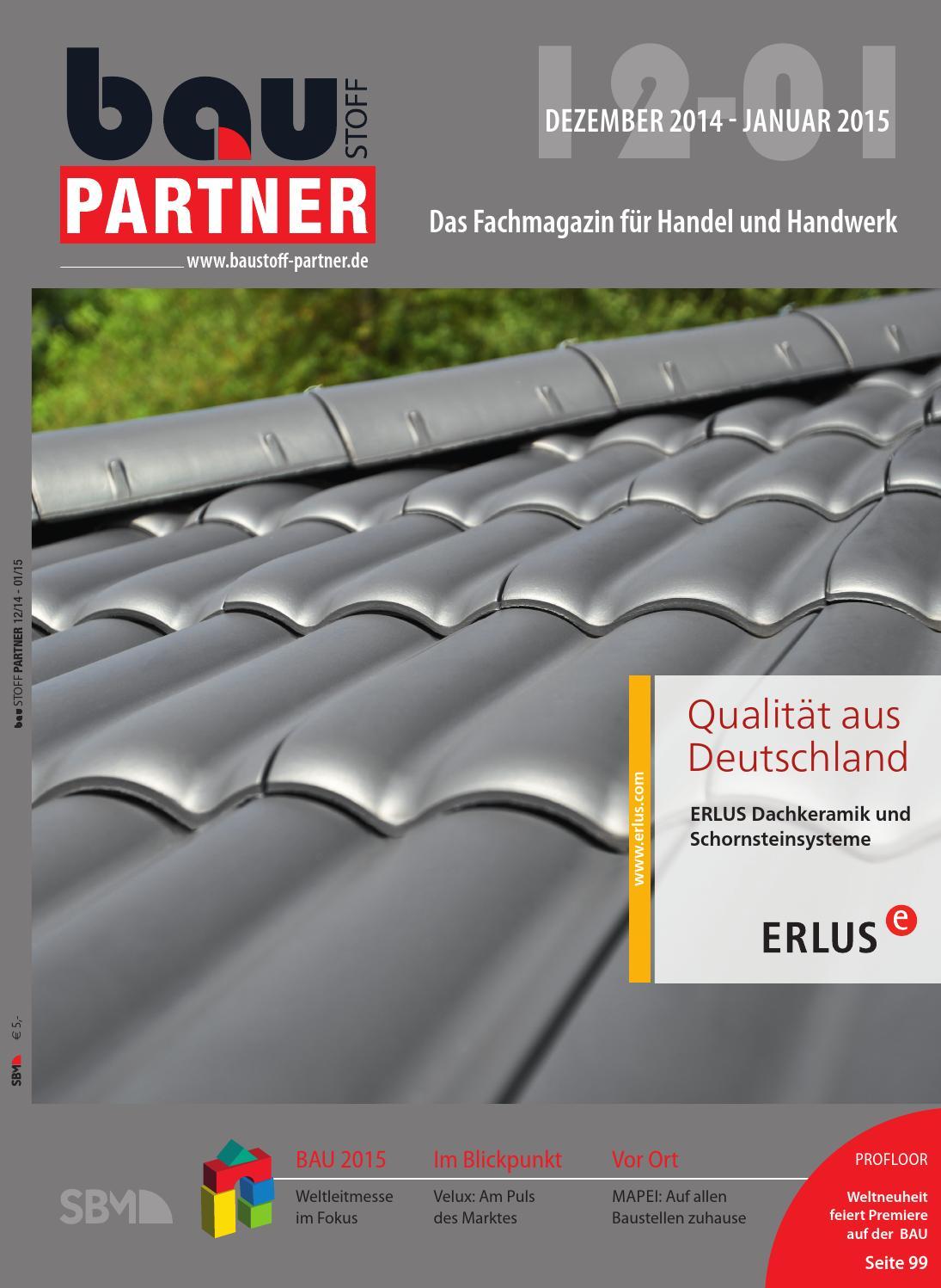 Baustoff Partner Dezember 2014 / Januar 2015 By SBM Verlag GmbH   Issuu